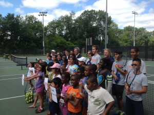 DA Early's grant to Tenacity allowed children to attend the tennis camp who otherwise wouldn't have been able to afford it.