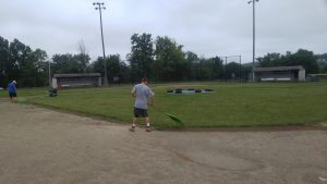 Work on baseball field