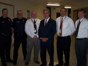 DA Early with Gardner Police and school officials.