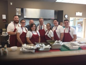 DA Early and summer interns helped out frequently at the St. John's Food for the Poor program.