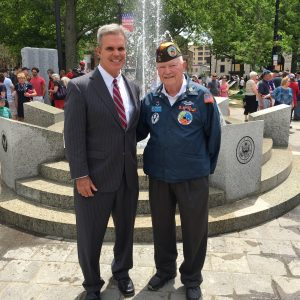 WW II Vets Memorial with John McAuliffe